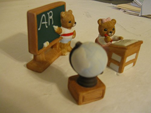 HOMCO COLLECTIBLE 4 PIECE CERAMIC SCHOOL SETTING, VINTAGE, VERY COLLECTIBLE HOMCO SCHOOL SETTING