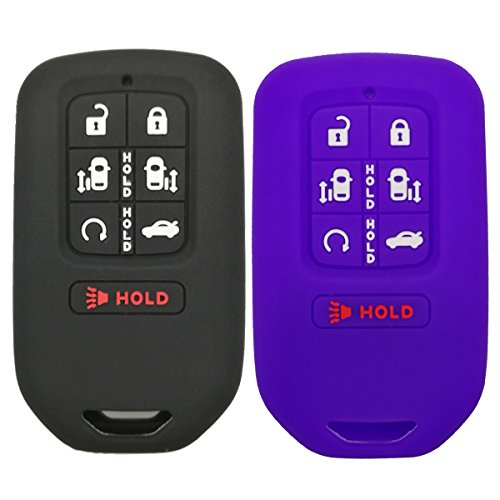 2Pcs Coolbestda Smart Key Fob Cover Keyless Entry Remote Case Protector for 2018 Honda Odyssey elite ex