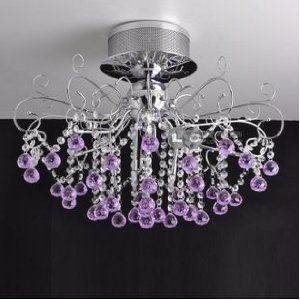 Romantic purple crystal ceiling with 10 lights amazon lighting romantic purple crystal ceiling with 10 lights aloadofball Images