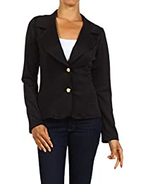 2LUV Plus Women's Cropped Single Button Blazer