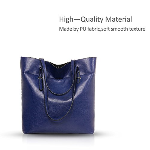 large Brown leather Nicole capacity handbags amp;Doris purse oil fashionable wild new temperament Sapphire women ppIqn7wg