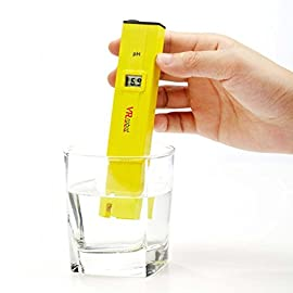 VR-robot Digital PH Meter Tester, PH-009-VR Pocket Pen with PH Buffer Powder , Monitor pH Testing, Aquarium, Water, Swimming Pool, Hydroponics, Kombucha, ph meters Kit(Yellow) 76 midity & Moisture Meters ph tester digital tsd digital ph tester digital solution water liquid Measurement range of 0-14 pH - highly accurate, reliable and quick readings