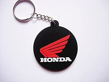 Keychains llavero - Honda - Round - Black Red - Motocross ...