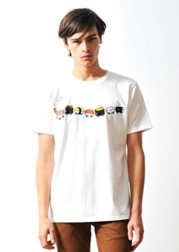 看板追放するオゾン(グラニフ) graniph コラボレーションTシャツ/スシトレイン (ホワイト)