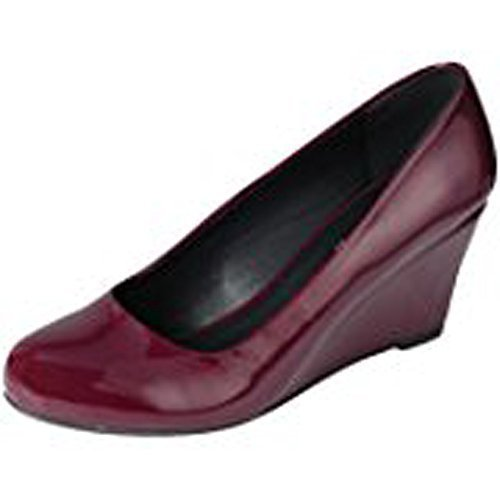 Image of Forever Doris-22 Wedges Pumps-Shoes mve Shoes Doris 22 Wine Pat Size 9