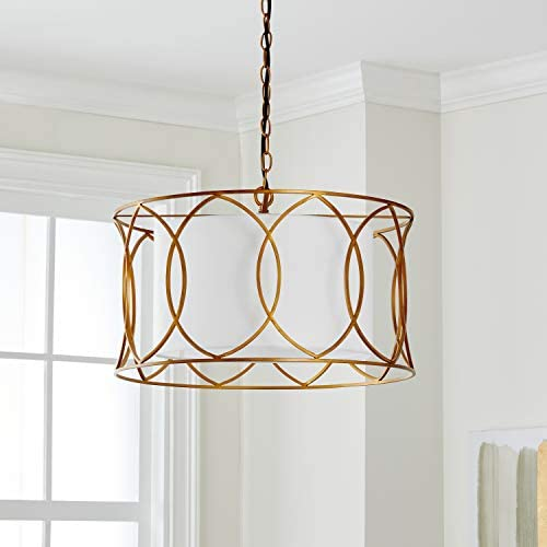 Safavieh Lighting Collection Silas 21.5 Adjustable Pendant, Gold