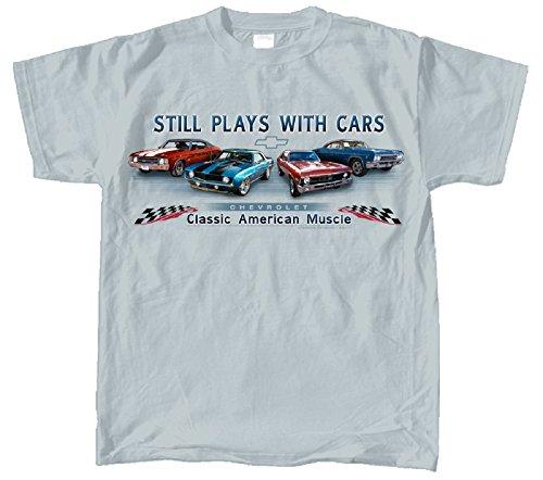 Chevelle Car (Chevy Chevelle, Camaro, Nova & Impala Muscle Car T-Shirt 100% Cotton Preshrunk -)