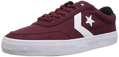 Converse COURTLANDT Low TOP Sneaker Dark Burgundy/White/Black 5.5 M US ()