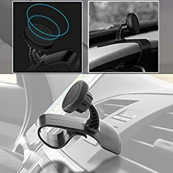 Galaxy S8 S7 S6 Edge Note 8 5 /& Mini Tablets 4351676049 CoolKo Newest Strongest 360-degree Rotation Magnetic Support Phone Navigation Holder Car Air Vent Mount Clip for Smartphone iPhone X 8 7 Plus 6S 6
