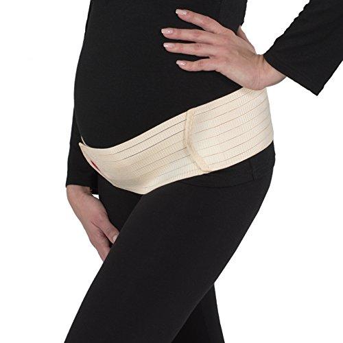 Beige Nero Gravidanza Cintura con Supporto 3200 Band Belly per Ginnastica Donna Sport Addominale Rosa Regolabile Gravidanza Cintura Velcro Beige per Yoga Herzmutter TfwWyUqFT