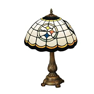 Amazon Com Nfl Pittsburgh Steelers Tiffany Table Lamp Sports Amp Outdoors