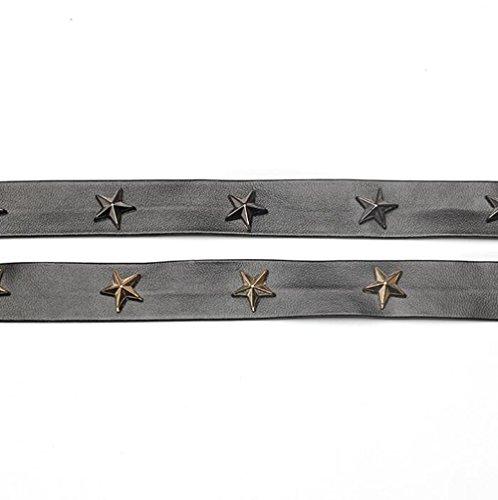 Cinq pointes Étoile gothique Collier de serre-tête collier collier pendentif claviculaire pour les femmes fille