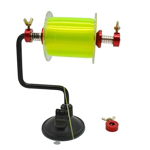 ilure-portable-fishing-line-spooler-silver-reel-winder-spool-tackle-red