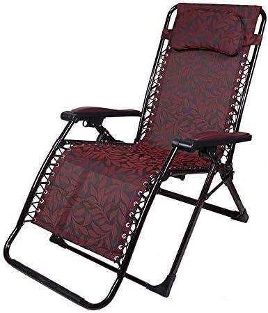 YZjk Schaukelliege 170 & deg; Liege, Dickes Stahlrohr, erweitertes Design, Garten, Terrasse Tragbarer Liegestuhl, optionales Polster (Farbe: Rot)