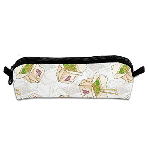 Kui Ju Pencil Bag Pen Case Chinese Noodles Box Cosmetic Pouch Students Stationery Bag Zipper Organizer