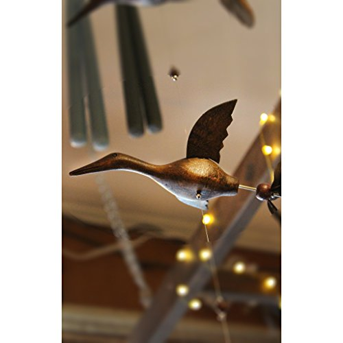 Wooden Animal Hanging Wind Spinners - Crane by Candlestock