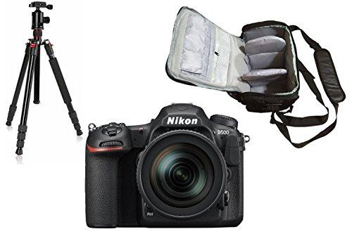 D500 DSLR Camera + AF-S DX NIKKOR 16-80mm f/2.8-4E ED VR Lens + KamKorda Pro Camera Bag + Advanced Tripod