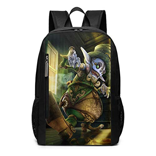 Steampunk St Patricks Day Leprechaun Scary School Travel Casual Daypack Backpack for Business College Women Men Laptop Large Computer Bag Polyester]()