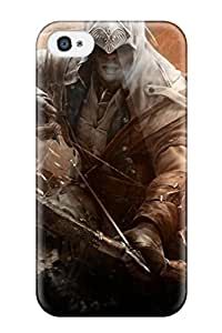 Discount Premium assassins Creed Connor Game Case For Iphone 4/4s- Eco-friendly Packaging 6881920K64401246