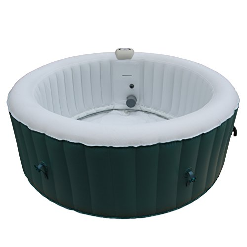 ALEKO HTIR4BLL Round Inflatable Hot Tub Personal Spa 4 Person 215 Gallon Light Blue