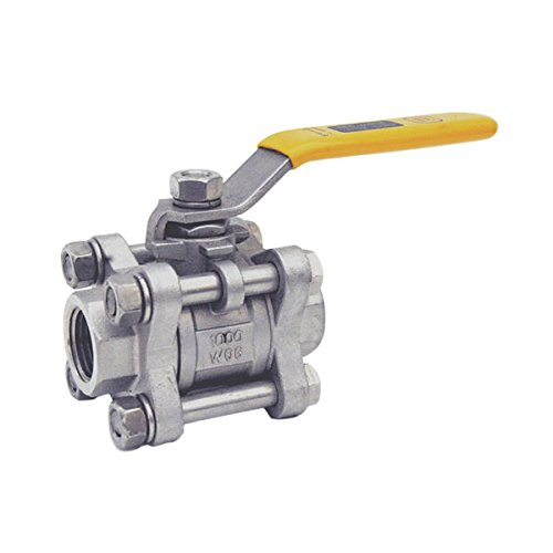 Red-White Valve 14RW4660 Stainless Steel Ball Valve Threaded (3 Piece), 1/4'' by Red-White Valve