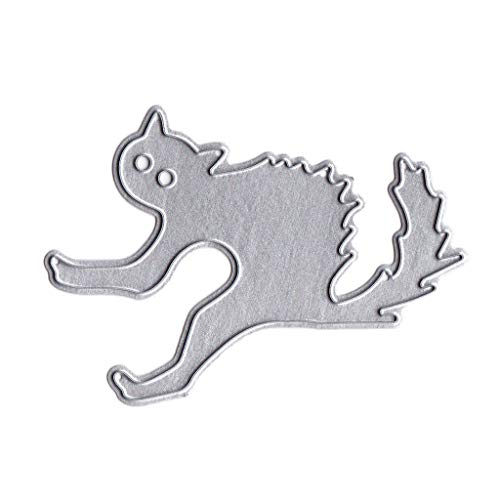 Cicitop Cutting Dies Halloween Cat Metal Cutting Dies Stencil DIY Scrapbooking Album Stamp Paper Card Embossing Crafts Decor