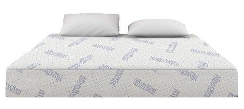 Silver Rest Cool Comfort 10-Inch 3-Layer Gel Memory Foam Mattress, Eastern King Size
