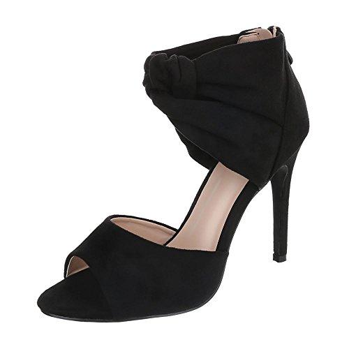 Femme Noir Design Ital Chaussures Compensées qFxwxtn7X