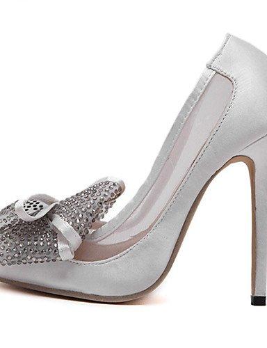 GGX/ Damen-High Heels-Kleid / Party & Festivität-Leder-Stöckelabsatz-Absätze / Komfort / Spitzschuh-Schwarz / Silber black-us6 / eu36 / uk4 / cn36