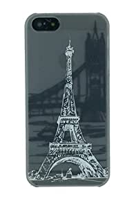 Eiffel Tower with Grey Background Pattern Fits iphone 5 5S Case