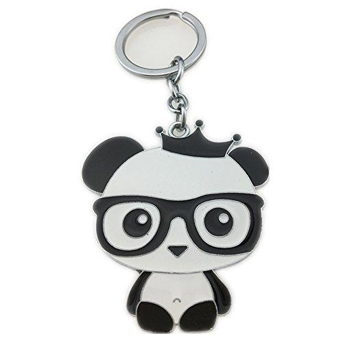 Letshopping Panda Hometown Cute Panda Keychain (Black-Glasses-Panda)