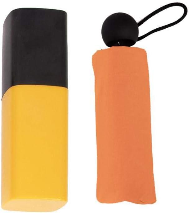 TtKj Folding Umbrella Lipstick Creative Black Plastic rain Dual Pocket Eight Bone Umbrella