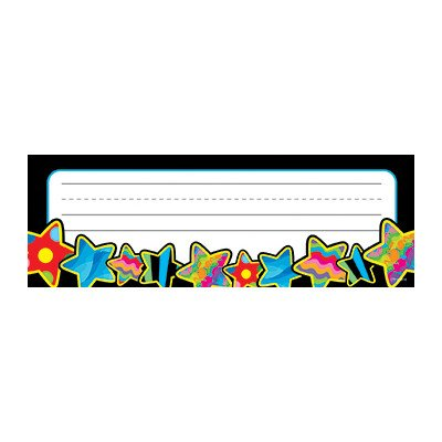 Poppin Pattern Stars Name Tag [Set of ()