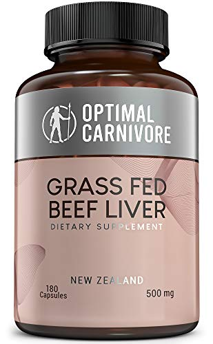 Grass Fed Beef Liver Capsules, Desiccated Beef Liver Supplement, Ancestral Superfood from New Zealand (180 Pills) by…