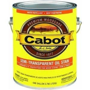 Cedar Oil Stain (Cabot Deck & Siding Stain Oil Formula New Cedar Semi Transparent 1 Gl)