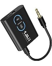 1Mii Bluetooth Adapter 5.0 Transmitter Empfänger, 2-in-1 Bluetooth Sender Receiver, Dual-Verbindung mit APTX geringer Latenz, Bluetooth Audio Splitter für TV/Stereoanlage