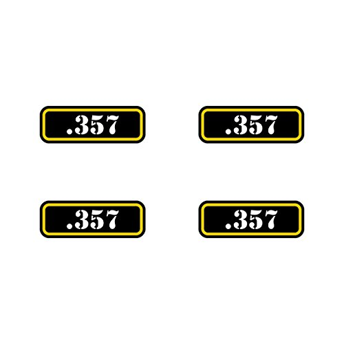 ((4x) .357 Ammo Can Sticker Set Decal molon labe bullet 357 type 2 FA Vinyl)