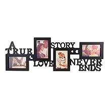Kiera Grace Collage Marco de Fotos, 10por 76,2cm Sostiene 4-4por 15,2cm, Negro, True Love