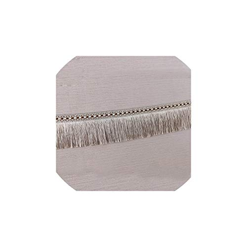 Tassels12 Meters 9Cm European Satin Lace Tassel Polyester Silk Trim Ribbon Latin Dance Skirt Curtain,Beige