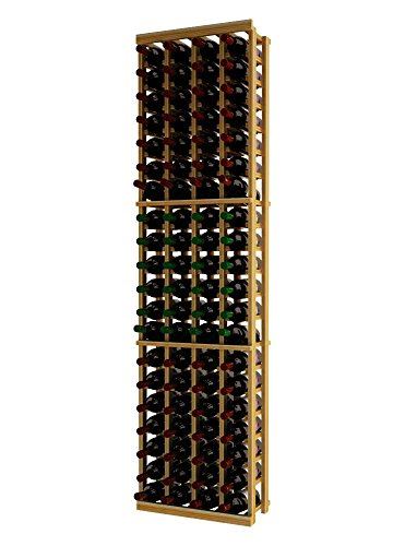 Wine Cellar Innovations TR-UN-4COL-A3 Traditional Series 4 Column Wine Rack, Premium Redwood, Unstained ()