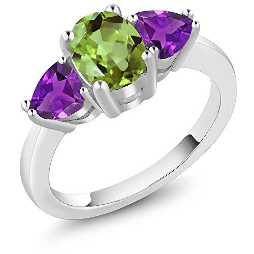 3 Stone Purple Ring - 6