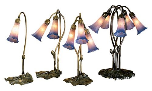 Meyda Tiffany 14064 Pond Lily 2 Light Accent Lamp, 16
