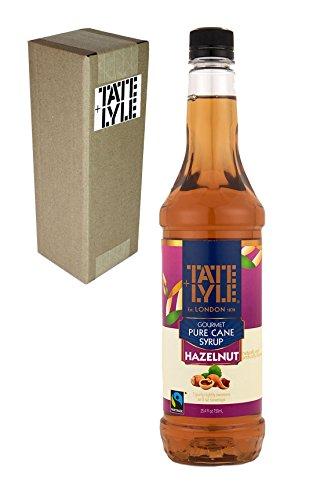 Tate+Lyle Fairtrade Pure Cane Sugar Hazelnut Syrup, 750mL (25.4oz) Bottle, Individually Boxed