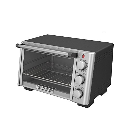 BLACKDECKER-TO2050S-6-Slice-Convection-Countertop-Toaster-Oven-Includes-Bake-Pan-Broil-Rack-Toasting-Rack-Stainless-SteelBlack-Convection-Toaster-Oven