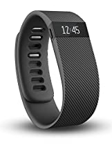 Fitbit Charge Wireless Activity Wristband, Black, Small