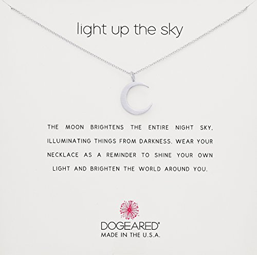 Dogeared Reminder Light Up The Sky, Thin Crescent Moon Chain Necklace