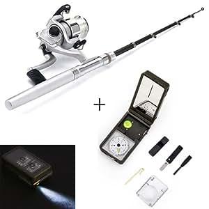 Hde mini portable telescopic pocket pen for Pen fishing rod amazon
