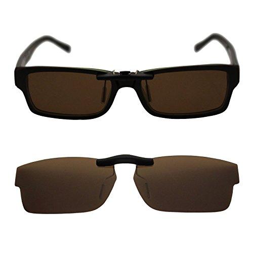 Custom Polarized Clip On Sunglasses for RAY-BAN RB5169 (52mm) 52-16-140 (Brown - Ray Bans Custom