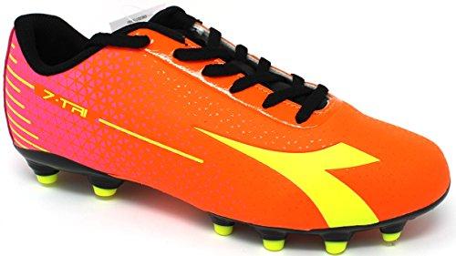 Diadora Fußballschuhe Herren–�?-tri MG14–�?72390-c7090–Rot fluo/gelb fluo-44