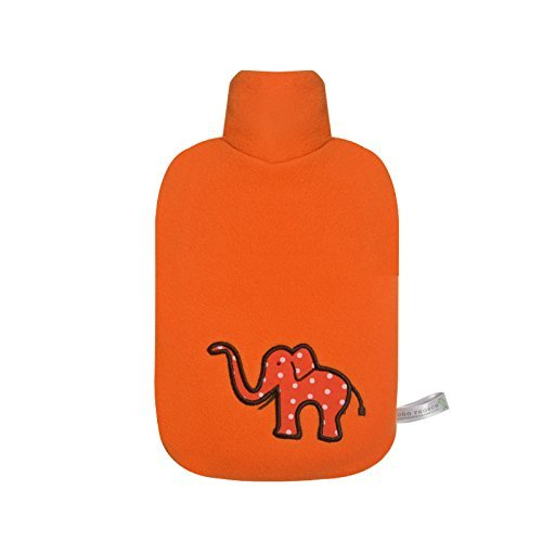 Hugo Frosch 0.8L Classic Kids Hot Water Bottle with Cover Made in Germany (Elephant) by Hugo Frosch
